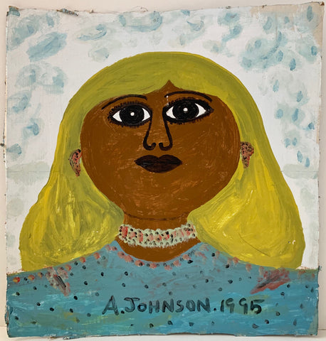 Woman With Cloudy Sky Anderson Johnson Painting