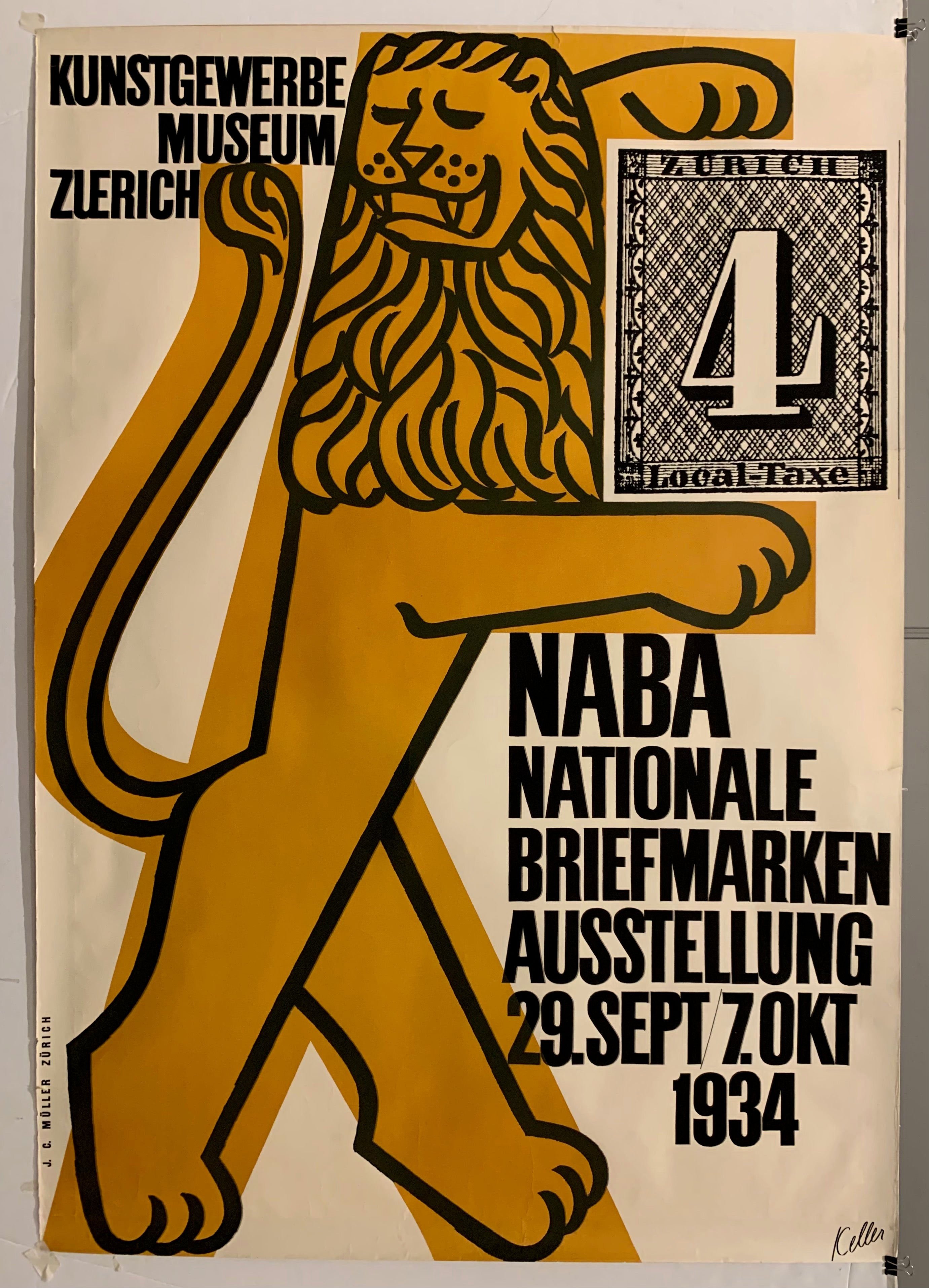 Naba Nationale Briefmarkenausstellung Poster