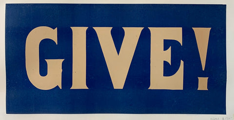 Give! War Poster