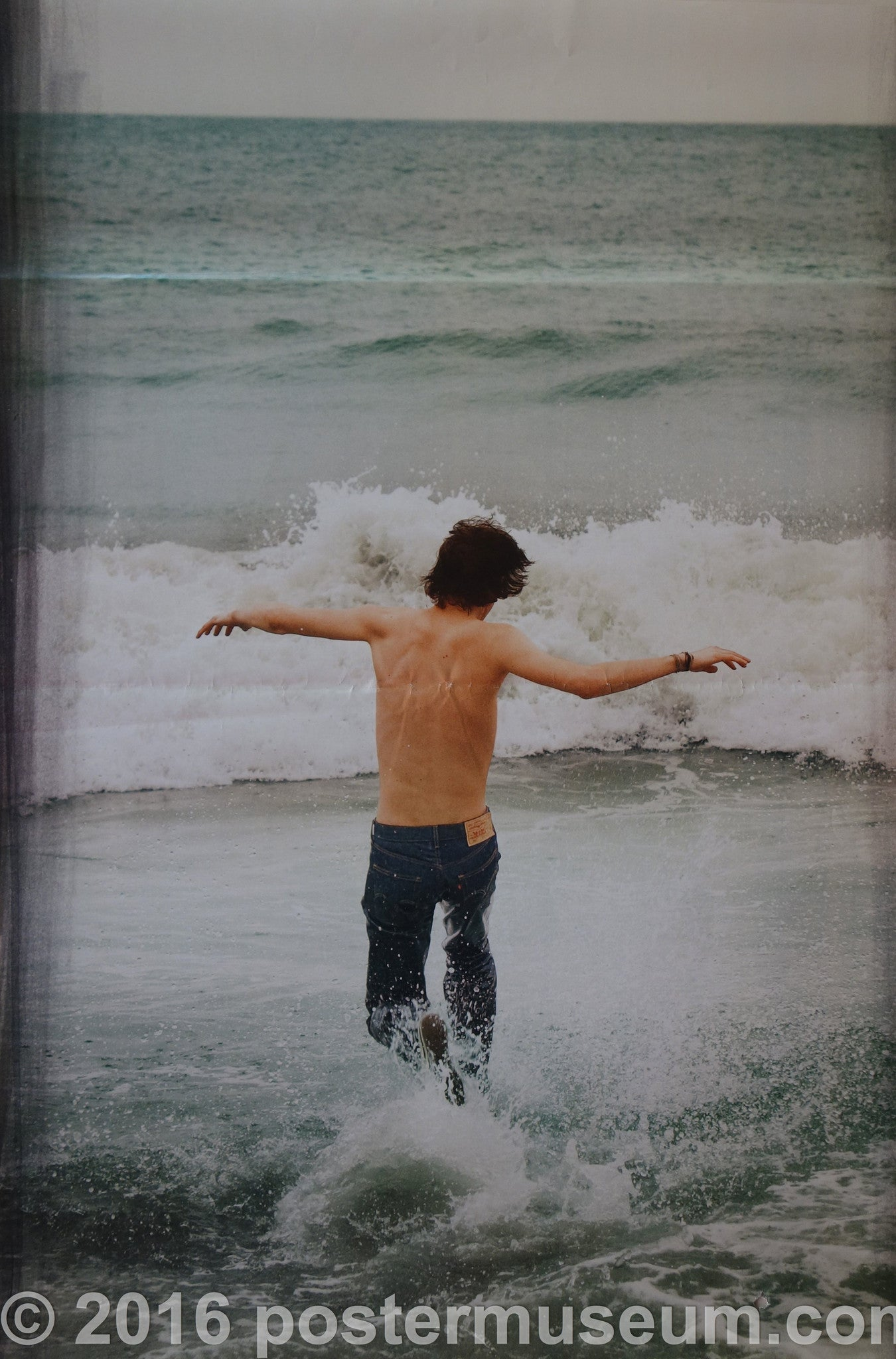 Levi's Running into the Ocean