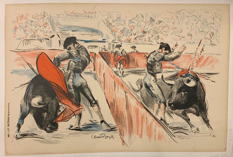Bullfight Illustration Poster