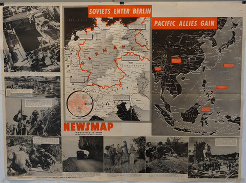 "Newsmap Industrial Edition ""Soviets Enter Berlin"""
