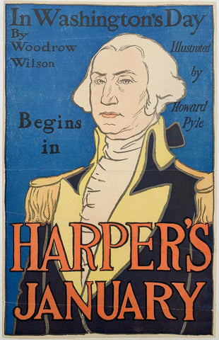 "In Washington's Day ""Harper's January"" - Poster Museum"