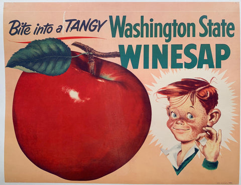 Bite into a Tangy Washington State Winesap - Poster Museum