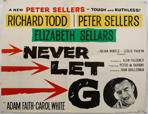 never let go movie poster three arrows peter sellers