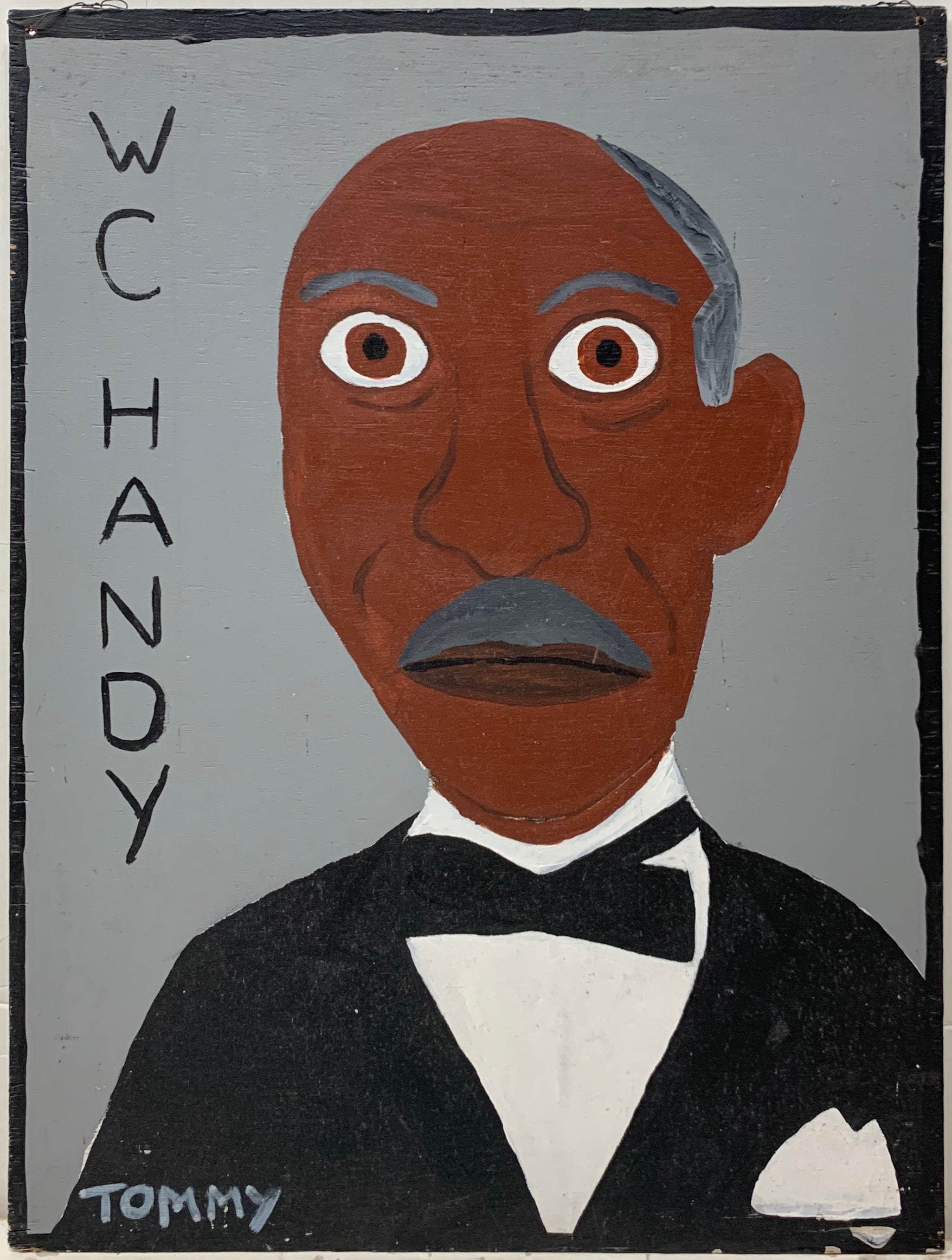 Tommy Cheng portrait of W.C. Handy, wearing a tux.