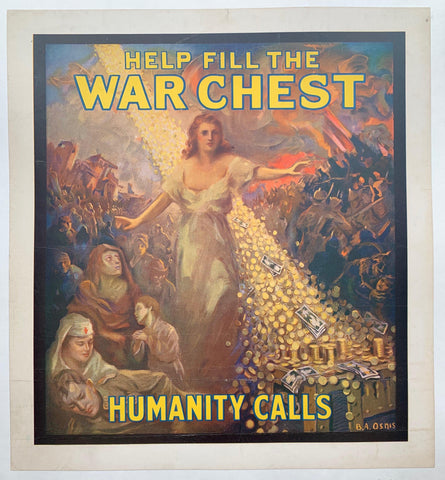 Help Fill the War Chest, Humanity Calls - Poster Museum