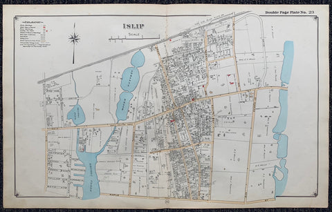 Long Island Index Map No.2 - Plate 23 Islip