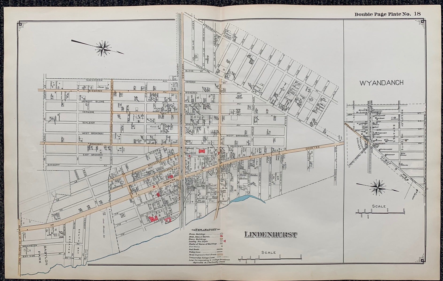 Long Island Index Map No.2 - Plate 18 Lindenhurst