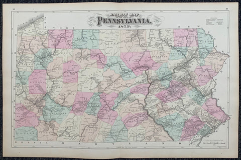 Railway Map of the State of Pennsylvania