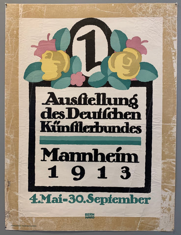 Poster shows a design with flowers on top of a text box with text inside, in the middle is a number 1.