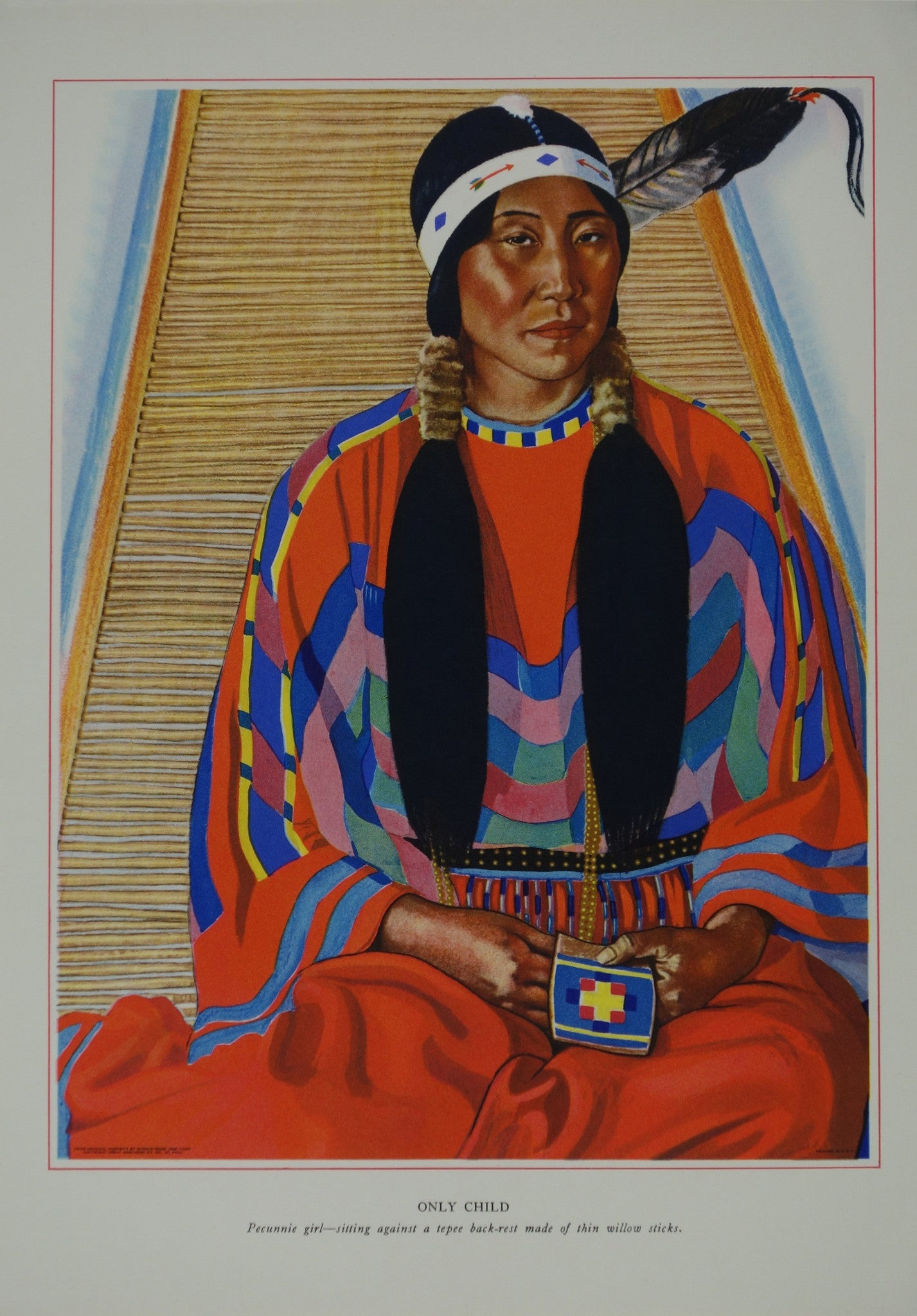 Portrait of Blackfeet Indian - Only Child