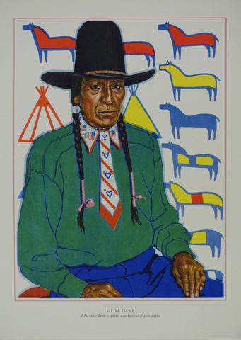 Portrait of Blackfeet Indian - Little Plume
