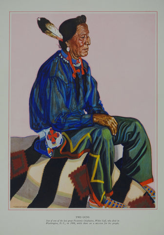 Portrait of Blackfeet Indian - Two Guns