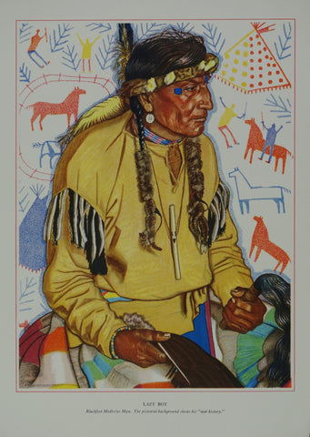 Portrait of Blackfeet Indian - Lazy Boy