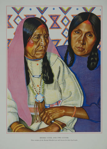 Portrait of Blackfeet Indian - Double Steel and Two Cutter