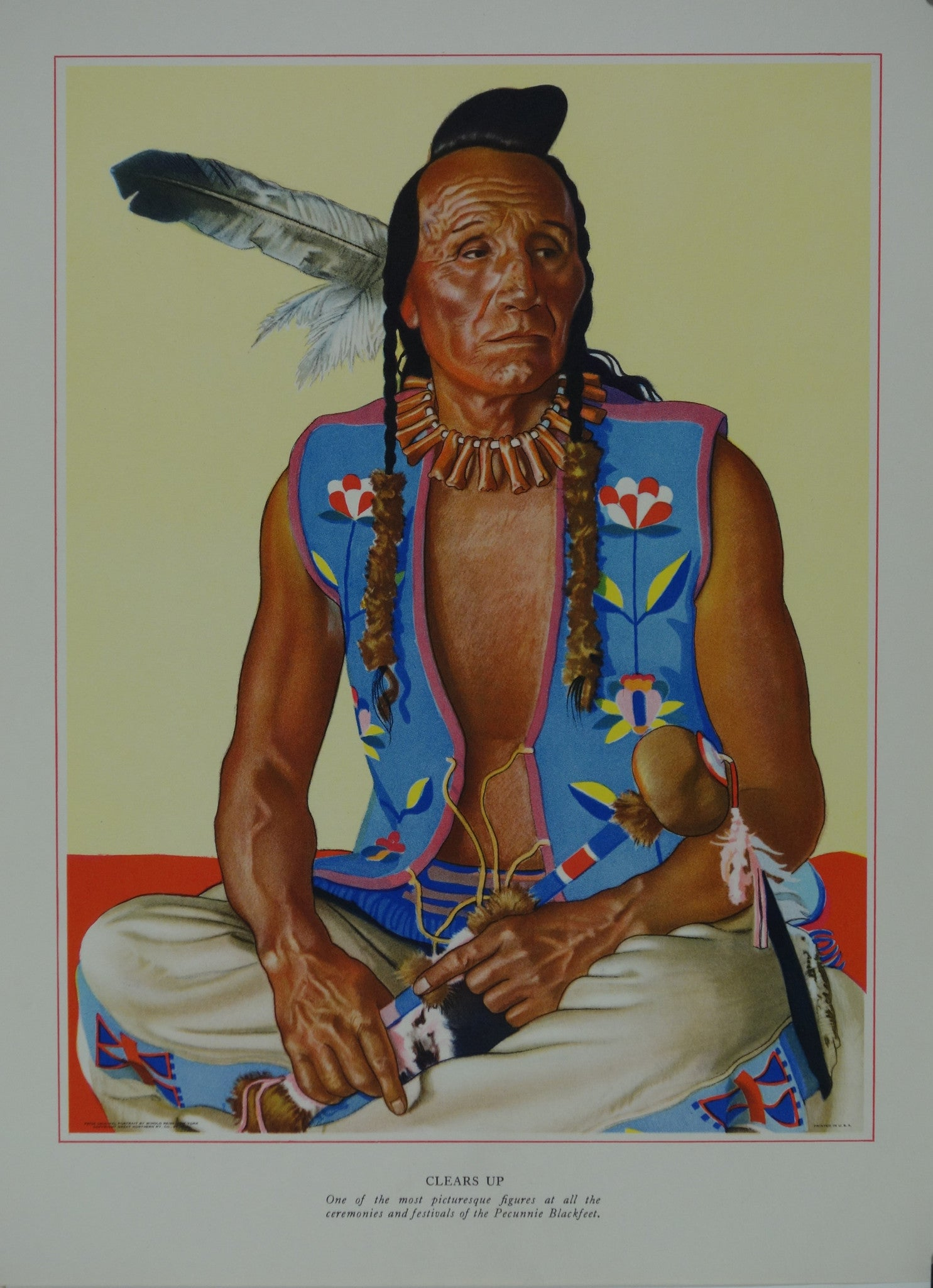 Portrait of Blackfeet Indian - Clears Up