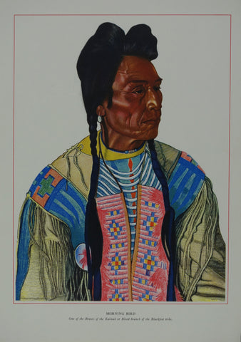 Portrait of Blackfeet Indian - Morning Bird