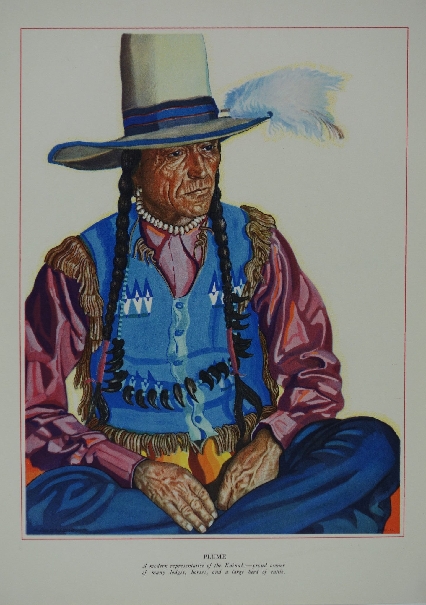 Portrait of Blackfeet Indian - Plume