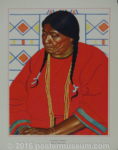 Portrait of Blackfeet Indian - Scalping Woman