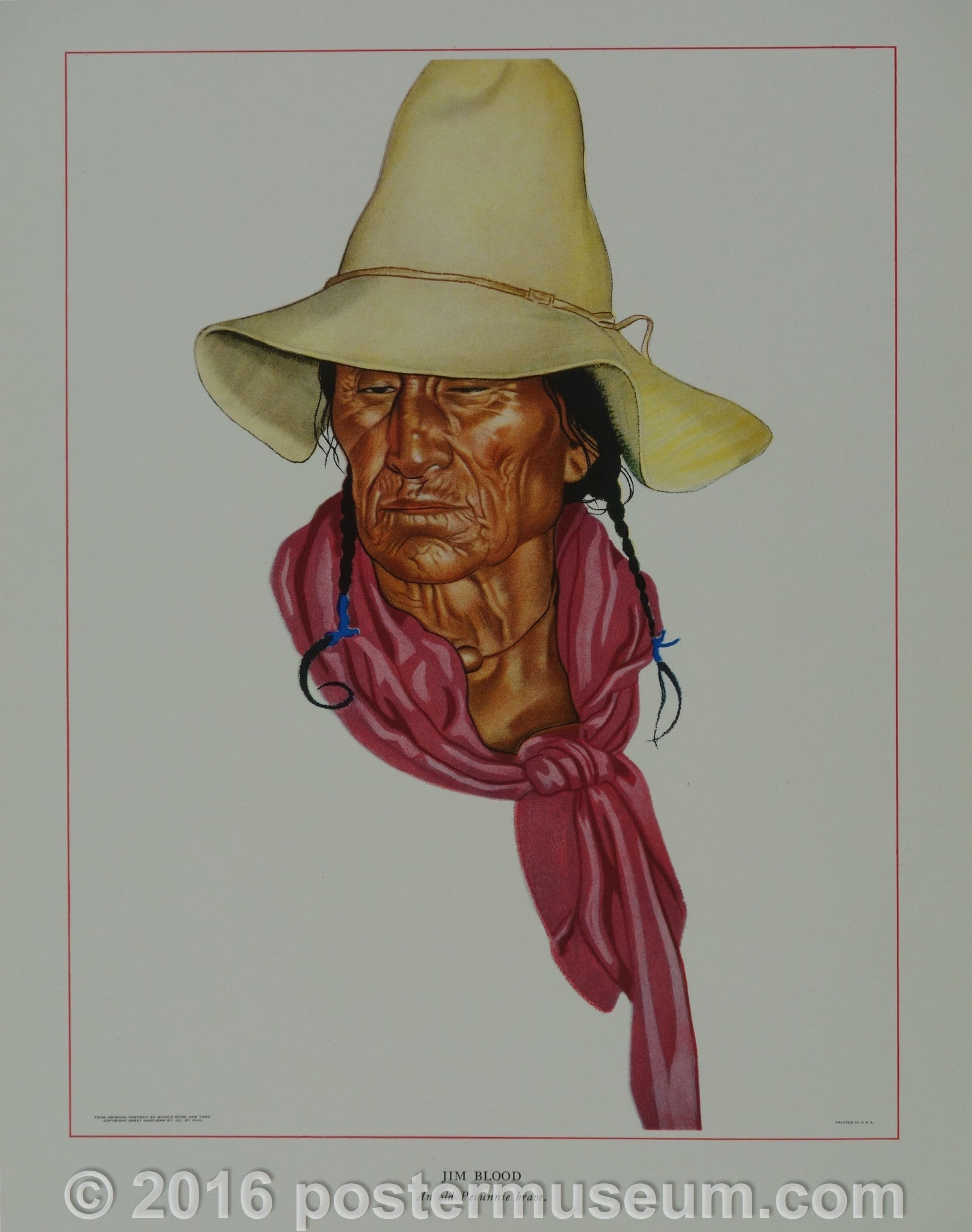 Portrait of Blackfeet Indian - Jim Blood