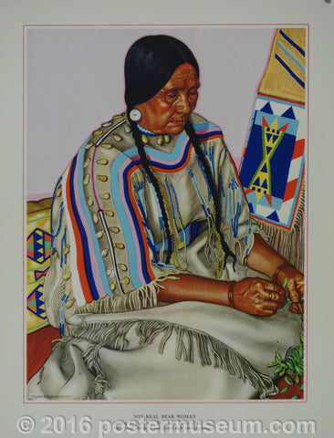 Portrait of Blackfeet Indian - Not Real Bear Woman