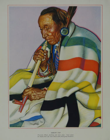 Portrait of Blackfeet Indian - Arrow Top