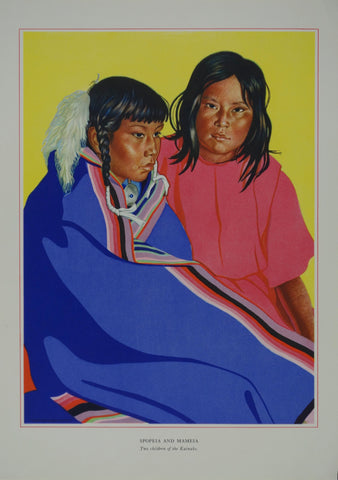 Portrait of Blackfeet Indian - Spopeia and Mameia