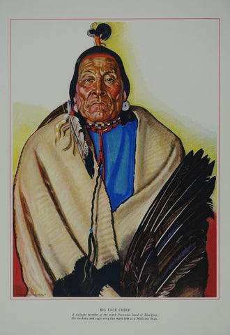 Portrait of Blackfeet Indian - Big Face Chief