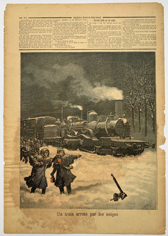 "Le Petit Journal - ""Un Train Arrete par les neiges"""