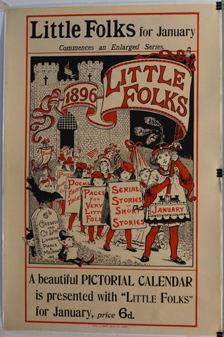 Little Folks for January Commences an Enlarged Series 1896 - Poster Museum