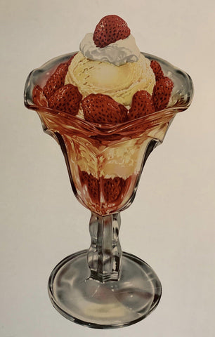 Strawberry Ice Cream - Poster Museum