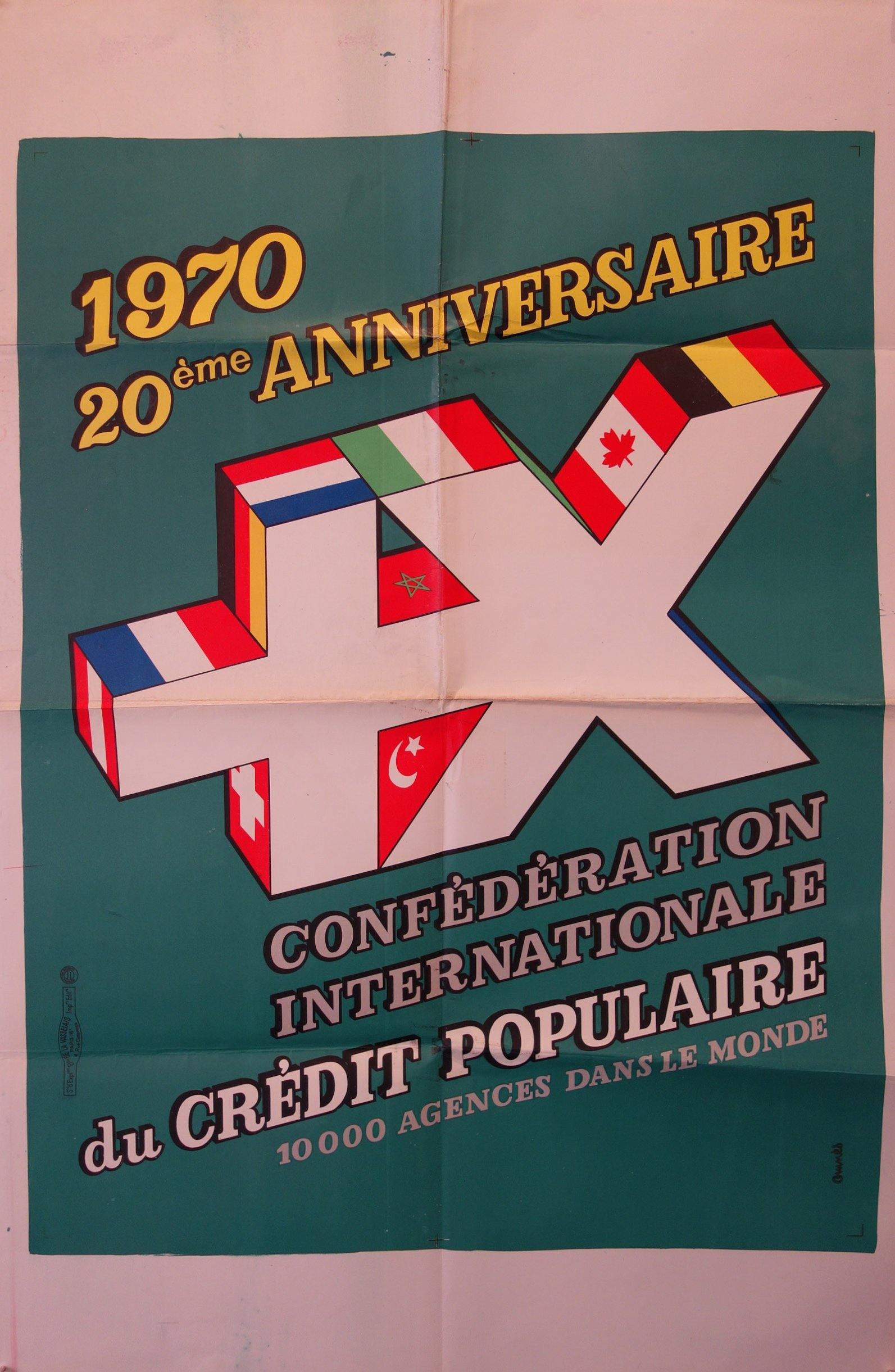 20th Anniversaire Confederation Internationale du Credit Populaire