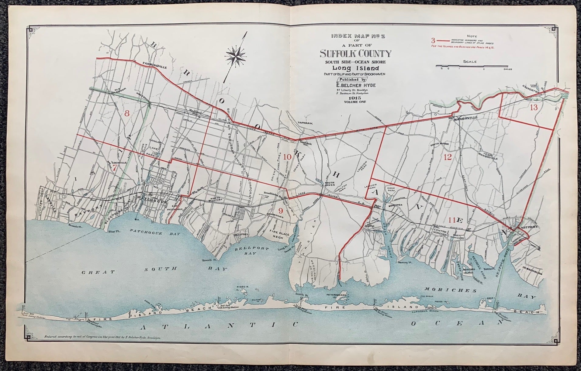 Long Island Index Map No.2 - Cover Suffolk County, Brookhaven