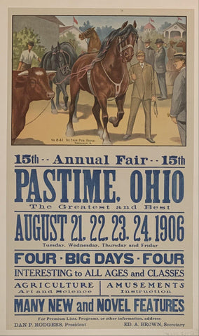 15th Annual Fair Pastime, Ohio - Poster Museum