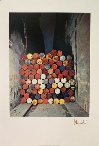 "Christo's ""Iron Curtain"" Paris France Poster"