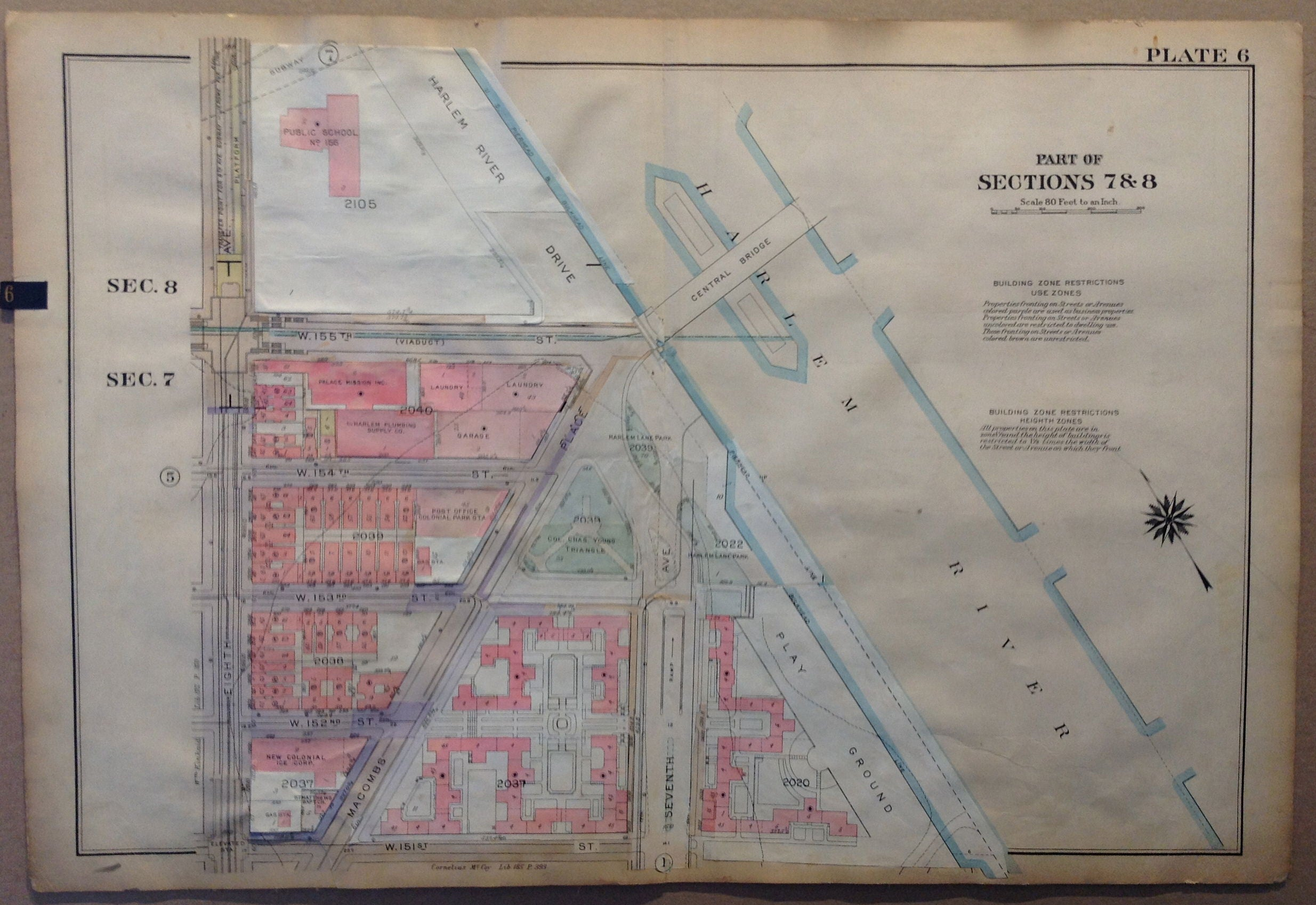 Map Of New York Harlem.Nyc Bronx Map Part Of Sections 7 8 Harlem River Central Bridge