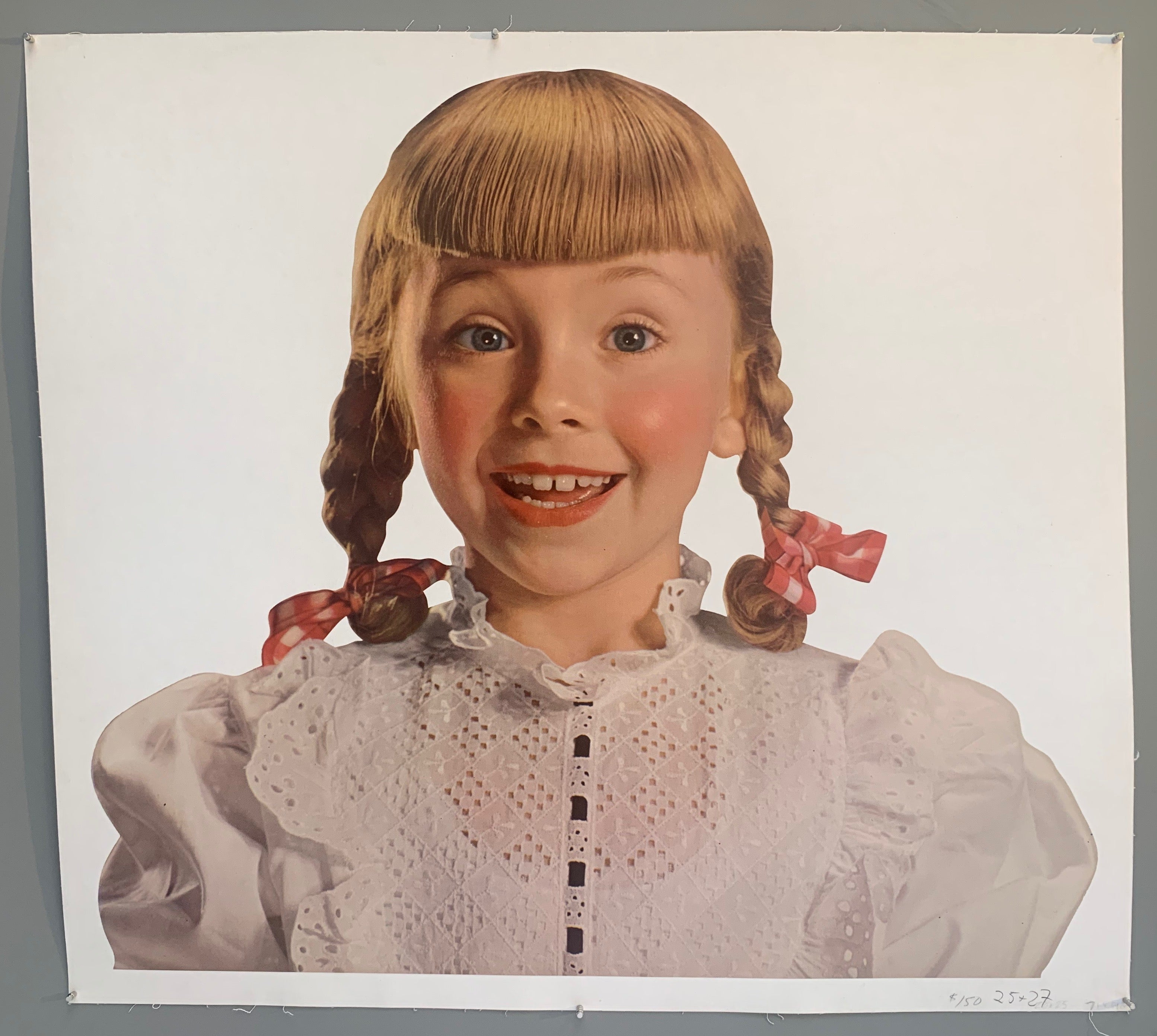 Pigtailed Girl Poster