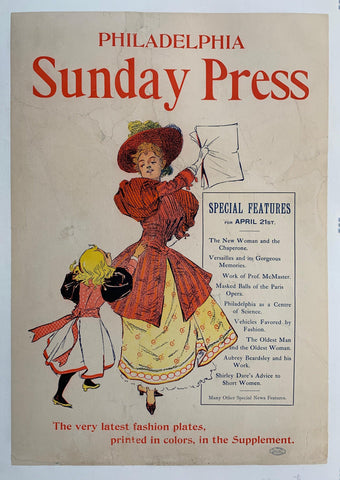 Philadelphia Sunday Press April 21 - Poster Museum