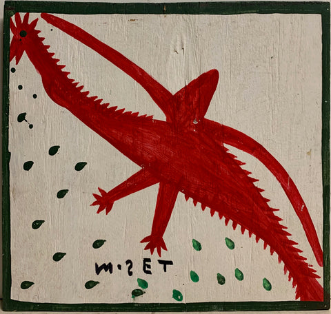 Red Bird Mose Tolliver Painting