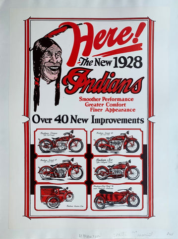 Here! The New 1928 Indians Motorcycle