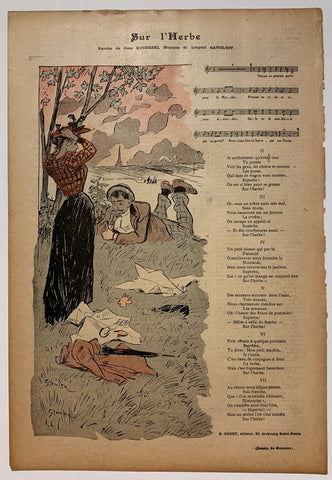 Gil Blas Newspaper by Steinlen