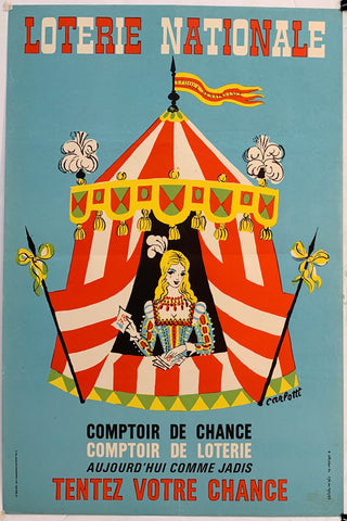 French Lottery Poster - Tent