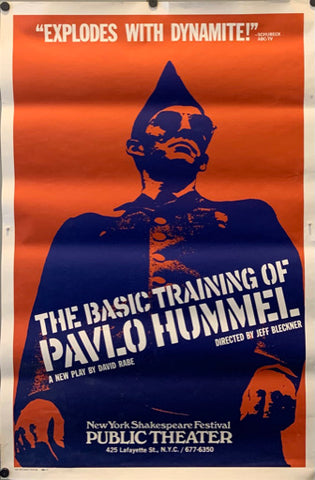 Poster for the off-Broadway run of The Basic Training of Pavlo Hummel.