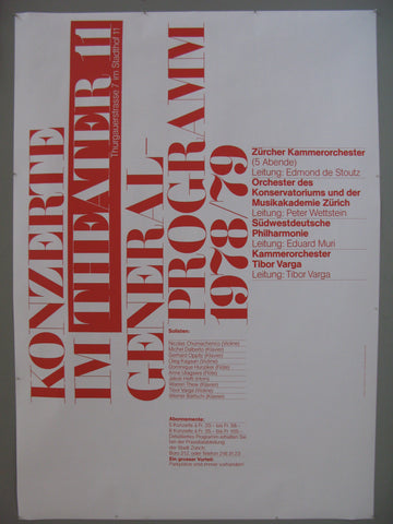 Konzerte Im Theater 11 Swiss Poster