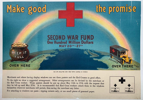 Make good the promise. Second War Fund, One Hundred Million Dollars, May 20th-27th. - Poster Museum