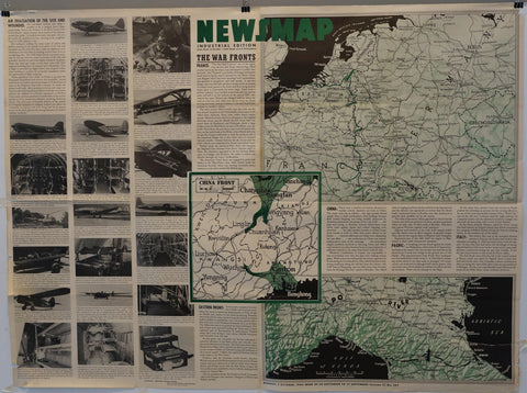 "Newsmap Industrial Edition ""The War Fronts"" - Poster Museum"