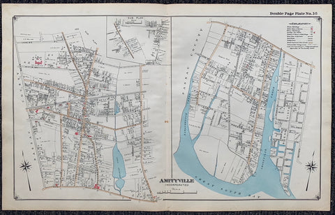 Long Island Index Map No.2 - Plate 16 Amityville