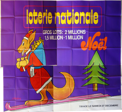 Loterie Nationale Kangaroo on skiis