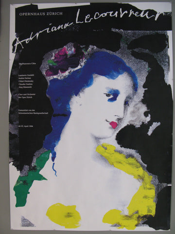 Adriana Lecouvreur Swiss Poster